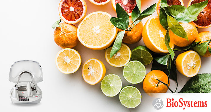 Monitor specific analytes in juices and fruits