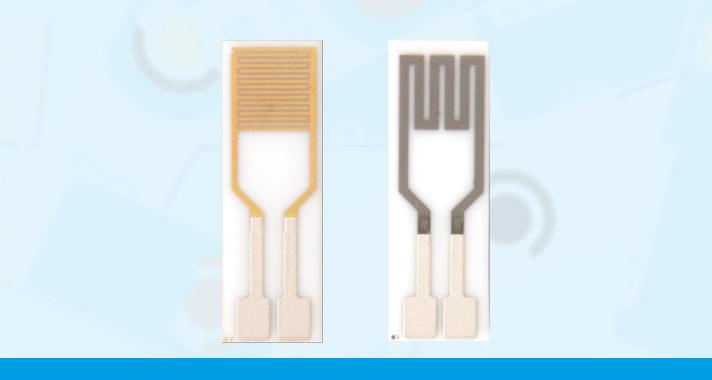 Interdigitated Gold Electrodes with Platinum heater
