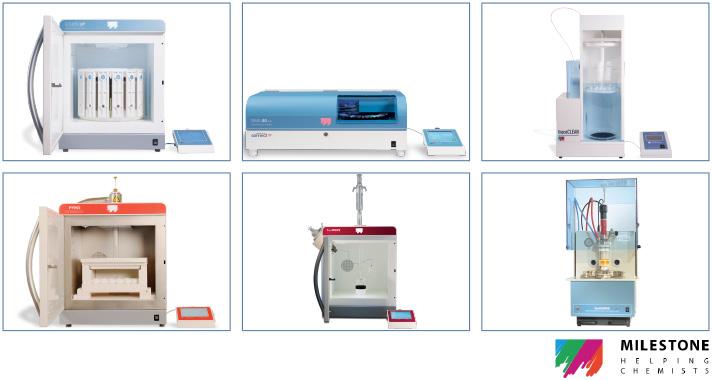 Milestone Microwave Sample Preparation Instrumentation for Laboratories