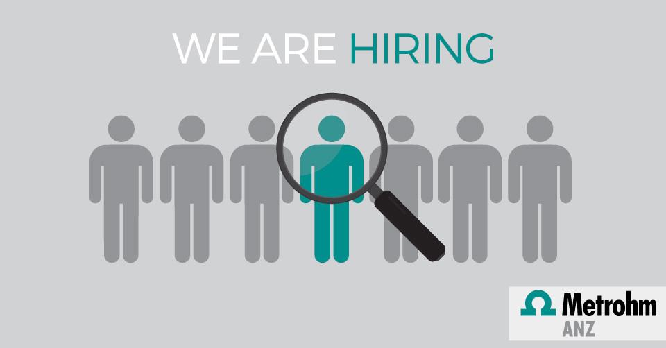 Metrohm ANZ is hiring