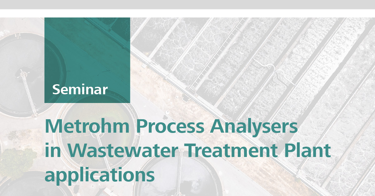 Process Analysers in Wastewater Treatment Plants | Brisbane, 22 May 2019