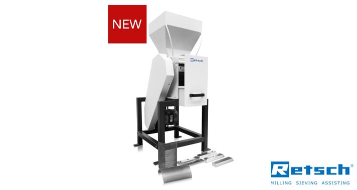 Largest feed size yet! 220mm x 170mm with the NEW Retsch SM400 XL Cutting Mill