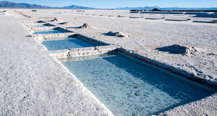 Salt evaporation pond