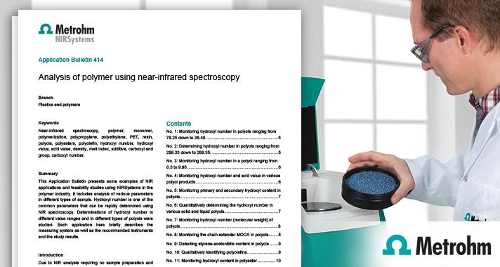 NIR spectroscopy in the polymer industry